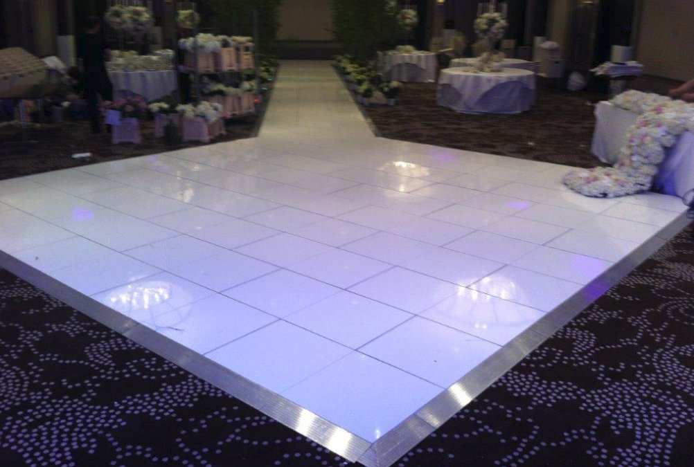 If you require something more elegant without the LED effect, then why not go for our pure white flooring. As you can see from the picture we can add a ...